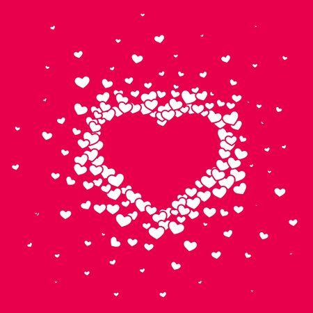 Rosa herziger Hintergrund mit einem Valentinstag. Vektorgrafik