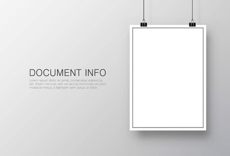 Paper poster A4 on the white background. Vector illustration Foto de archivo - 128498725