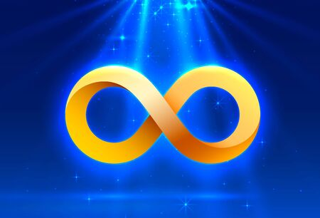 Symbol of infinity Electronic sign, technology network digital. Vector Illustration