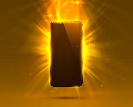 Phone cover orange color design modern background. Vector illustration