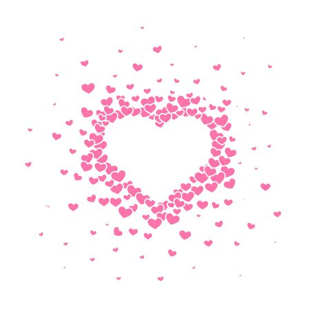 Pink hearted background with a Valentines Day title on it. Vector illustration. Archivio Fotografico - 129879720
