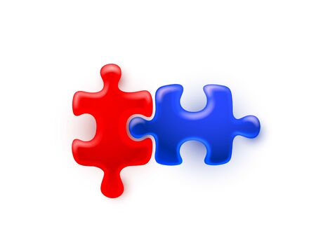 Puzzle colored sign group art, game icon idea. Vector illustration