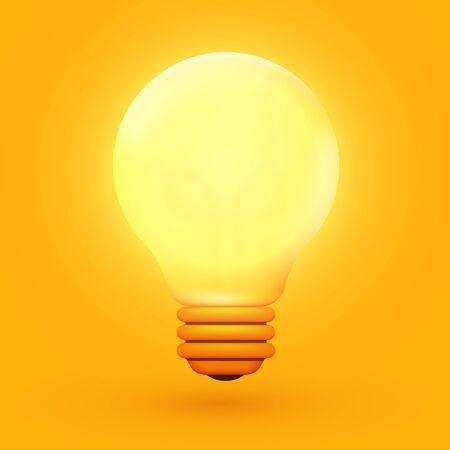 Light bulb, creative idea and innovation. Inspiration concept. Vector illustration