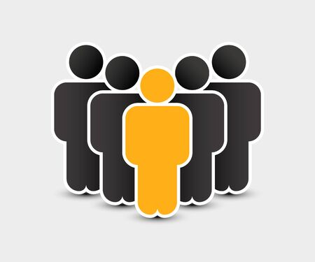 People icon in trendy flat style. Persons symbol for your infographics website design, logo. Crowd signs. Team or user group concept. Isolated on white background. Vector illustration. Archivio Fotografico - 133434260