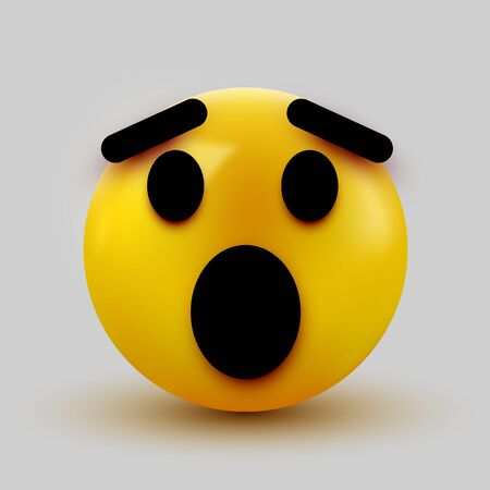 Surprised emoji isolated on white background, shocked emoticon. Vector illustration 일러스트