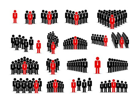 People team sign group set collection manager. Vector illustration Archivio Fotografico - 133434820