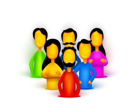 People teamwork group, business infographics work. Vector illustration Archivio Fotografico - 133435542