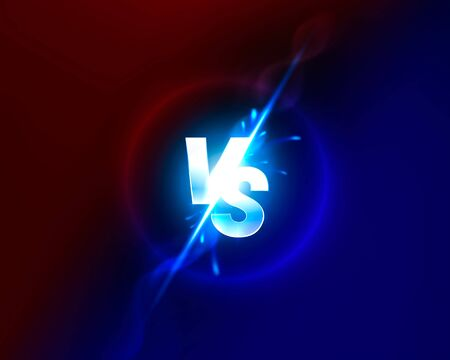 Versus game cover, banner sport vs, team concept. Vector illustration background