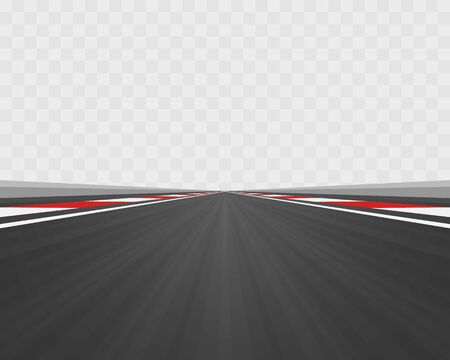 Track road to infinity, Road vector highway , Vector illustration, Transparent background.