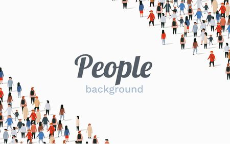 Large group of people on white background. People communication concept. Vector illustration Archivio Fotografico - 133425017
