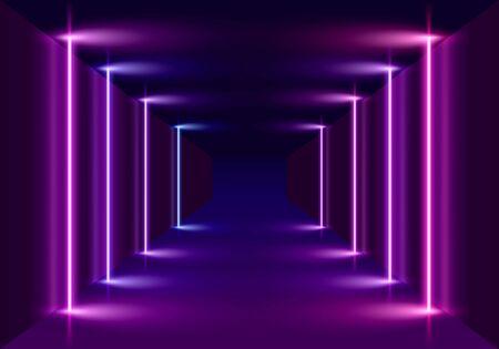 Neon scene, laser show