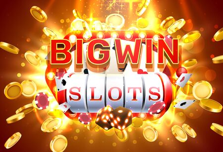 Big win slots 777 banner casino, frame light slots. 矢量图像