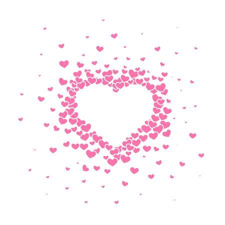 Pink heart background with a Valentines Day title on it. Vector illustration. Illusztráció