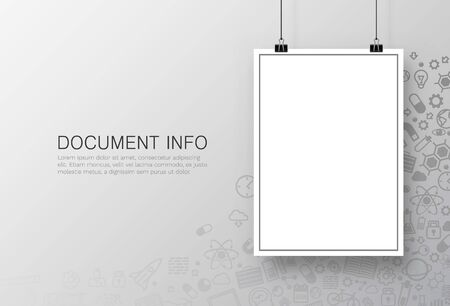 Paper poster A4 on the white background. Vector illustration Illustration
