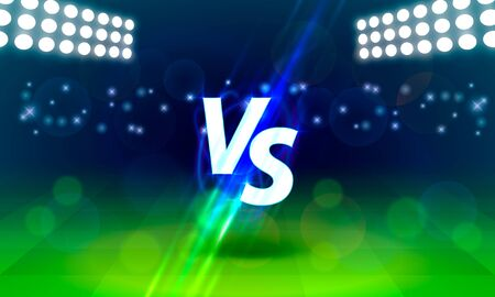 Versus game cover, banner sport vs, team concept. Vector illustration background