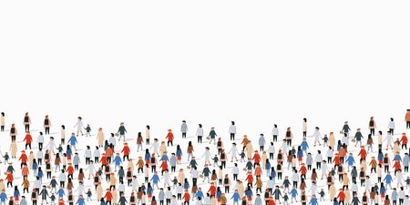 Large group of people on white background. People communication concept. Vector illustration Illustration