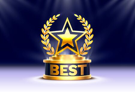 Best golden star trophy
