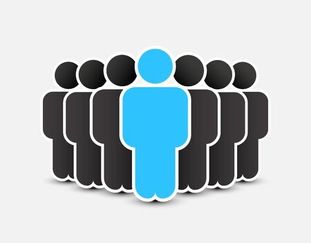 People icon in trendy flat style. Persons symbol for your infographics website design, logo. Crowd signs. Team or user group concept. Isolated on white background.