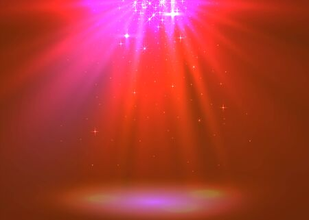 Abstract magic light background. Red holiday burst.