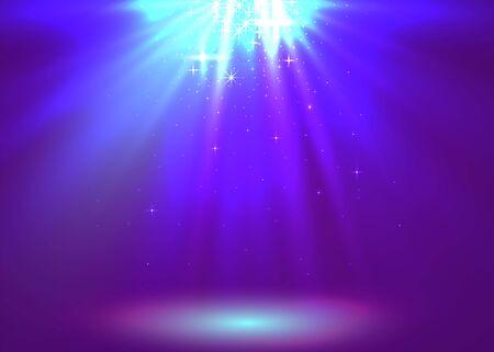 Abstract magic light background. Purple holiday burst. Illusztráció