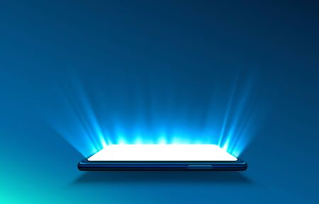 Smartphone light screen, technology mobile display light.