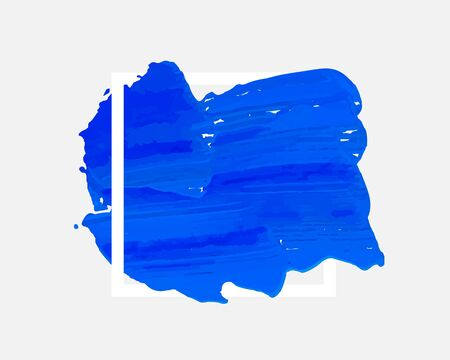 Color paint draw brush on the white background. Vector illustration Ilustracja