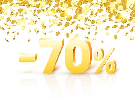 Big Discount, action with share discount percentage 70.