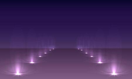 Spotlights scene light effects. Stage light spotlight vector.