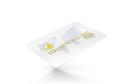 Electronic credit card icon, white background, finance technology. Vector illustration