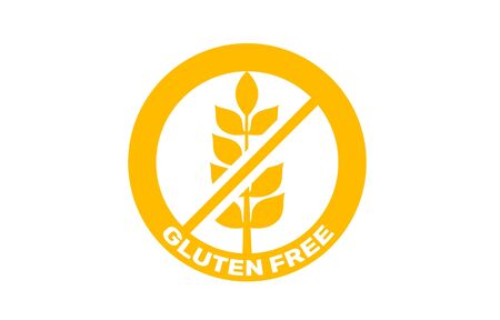 Gluten free badge, sign label icon. Vector