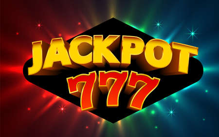 Jackpot winner. Online casino banner. 777 casino background.