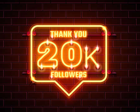 Thank you followers peoples, 20k online social group, happy banner celebrate