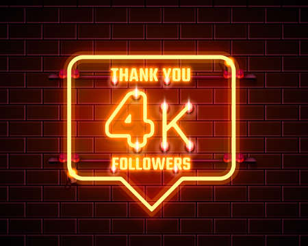 Thank you followers peoples, 4k online social group, happy banner celebrate, Vector 向量圖像
