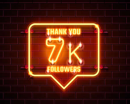 Thank you followers peoples, 7k online social group, happy banner celebrate, Vector 向量圖像