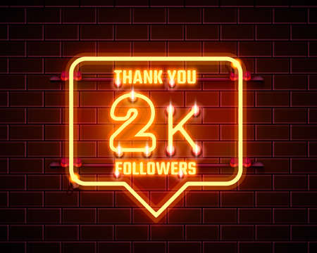 Thank you followers peoples, 2k online social group, happy banner celebrate, Vector 向量圖像
