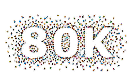 Thank you followers peoples, 80k online social group, happy banner celebrate, Vector