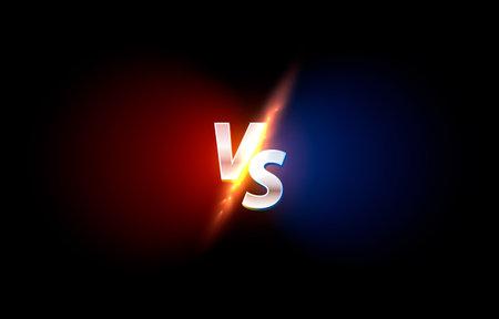 Versus game cover, banner sport vs, team concept. Vektorgrafik