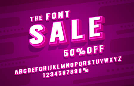 Sale font set collection, letters and numbers symbol. Vector
