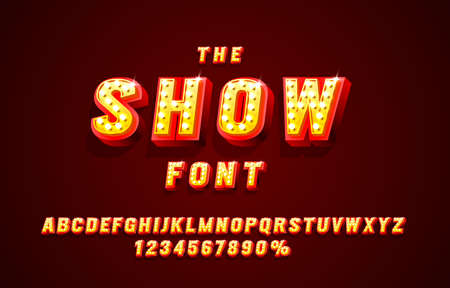 Show font set collection, letters and numbers symbol. Vector  イラスト・ベクター素材