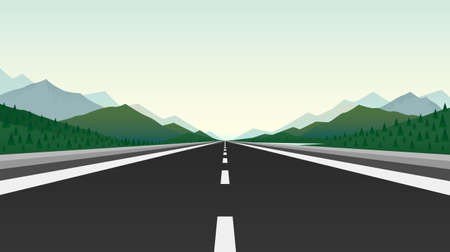 Road Trip infinity, Landscape travel, Pave the Route, location information. Vector