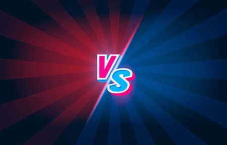 Versus game cover, banner sport vs, team concept. Vector illustration