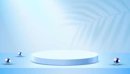 Abstract scene background. Cylinder podium on background. Product presentation, mock up, show cosmetic product, Podium, stage pedestal or platform.