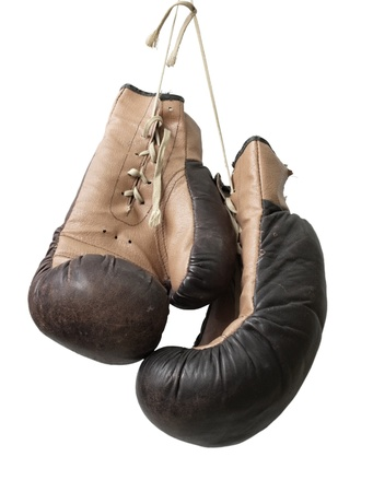 boxing glove: Old boxing gloves.