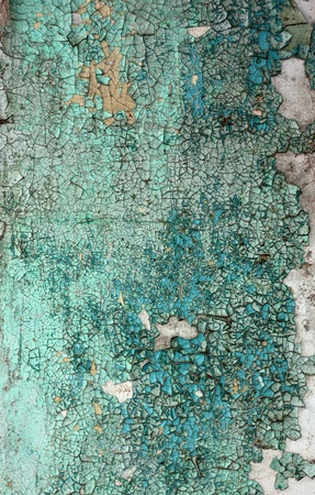 Peeling paint texture in abandoned home. photo