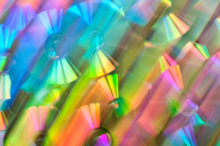 Bright abstract background. CD photo