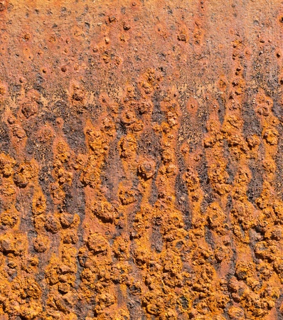 Detail of old, orange, rusty metal texture background photo