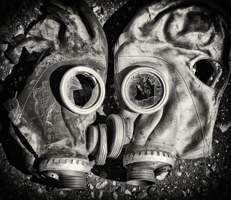 Gas masks  Stock Photo