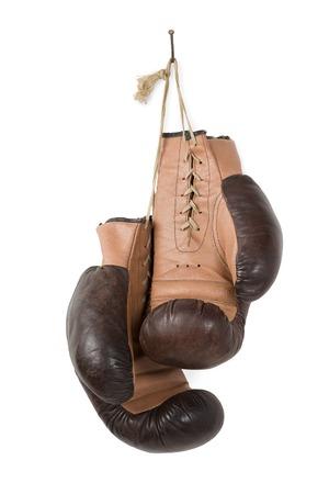 hang up: Vintage old boxing gloves