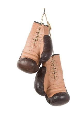 sporting activity: Vintage old boxing gloves