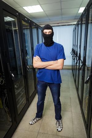 Masked cyber hacker photo